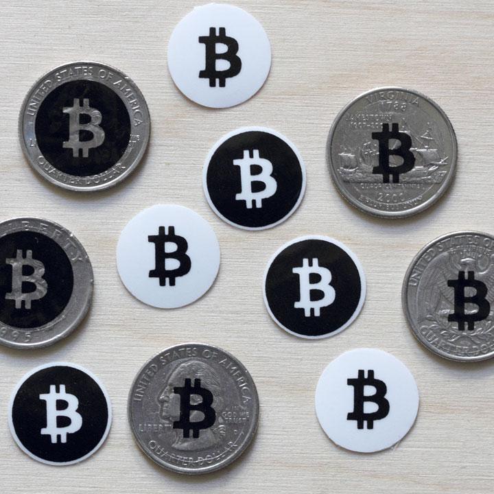 Bitcoin Logo Black 10 Bitcoin Logo Stickers